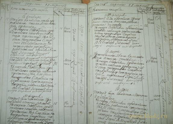 Метрическая книга, XIX век.